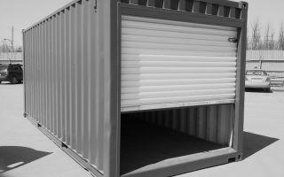 Гараж из контейнеров своими руками