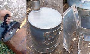 Печка в гараж на дровах своими руками