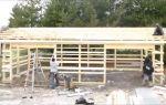 Строительство каркасного гаража на 2 машины