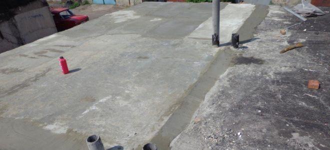 Бетонная стяжка на крыше гаража — подробная инструкция и важные нюансы
