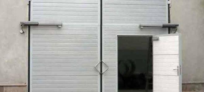 Теплые ворота для гаража своими руками