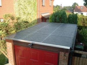 гараж с плоской крышей