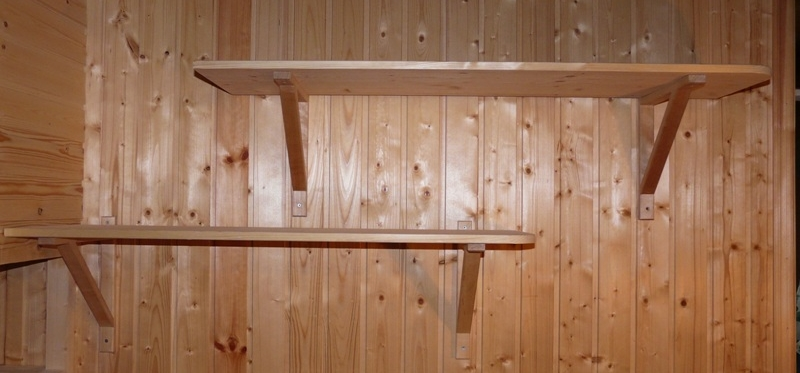 Полки на стену в баню
