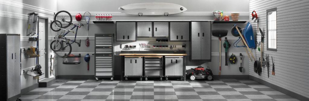 обустроенный гараж