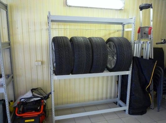 98Стеллажи для хранения колес и шин