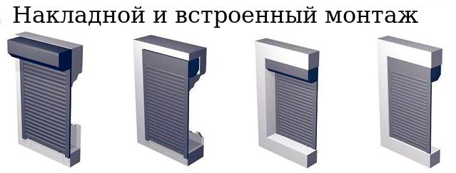 монтаж рольставень
