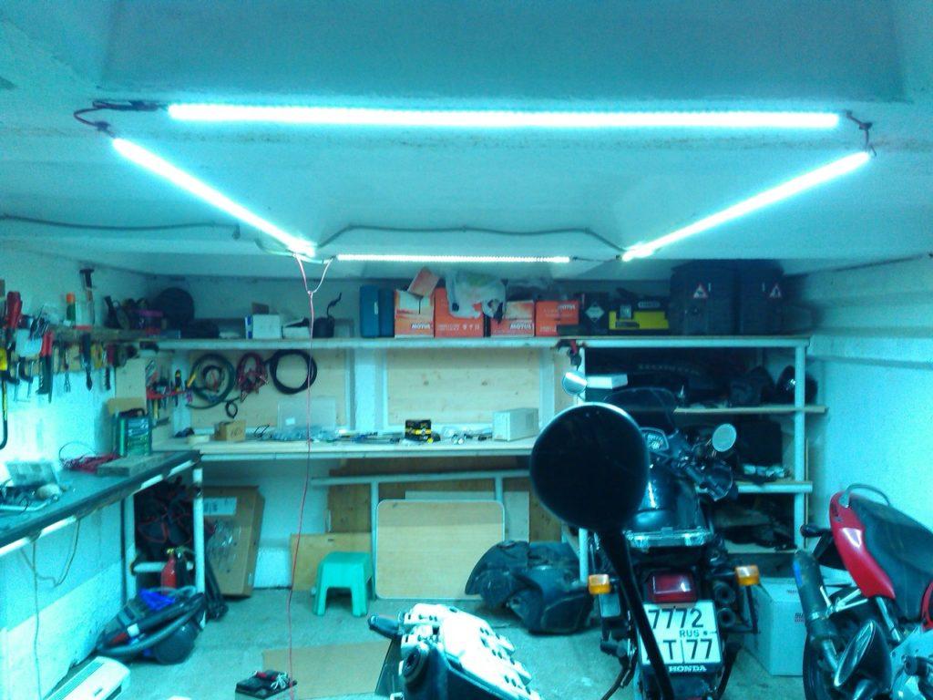 светодиодные светильники для гаража