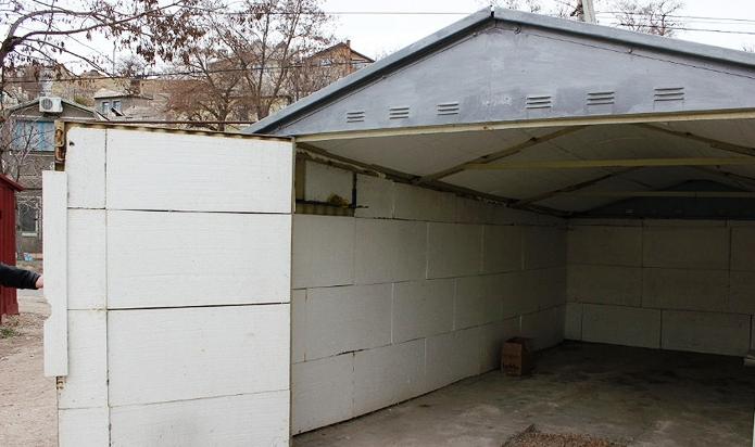 Утепление гаража пенопластом изнутри