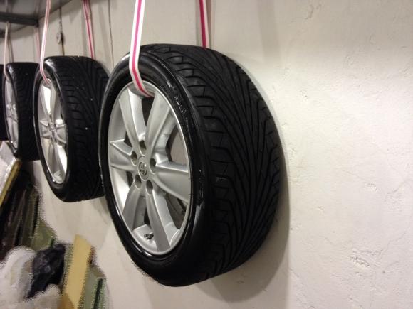 как подвесить колеса