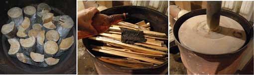 печь на дровах в гараже