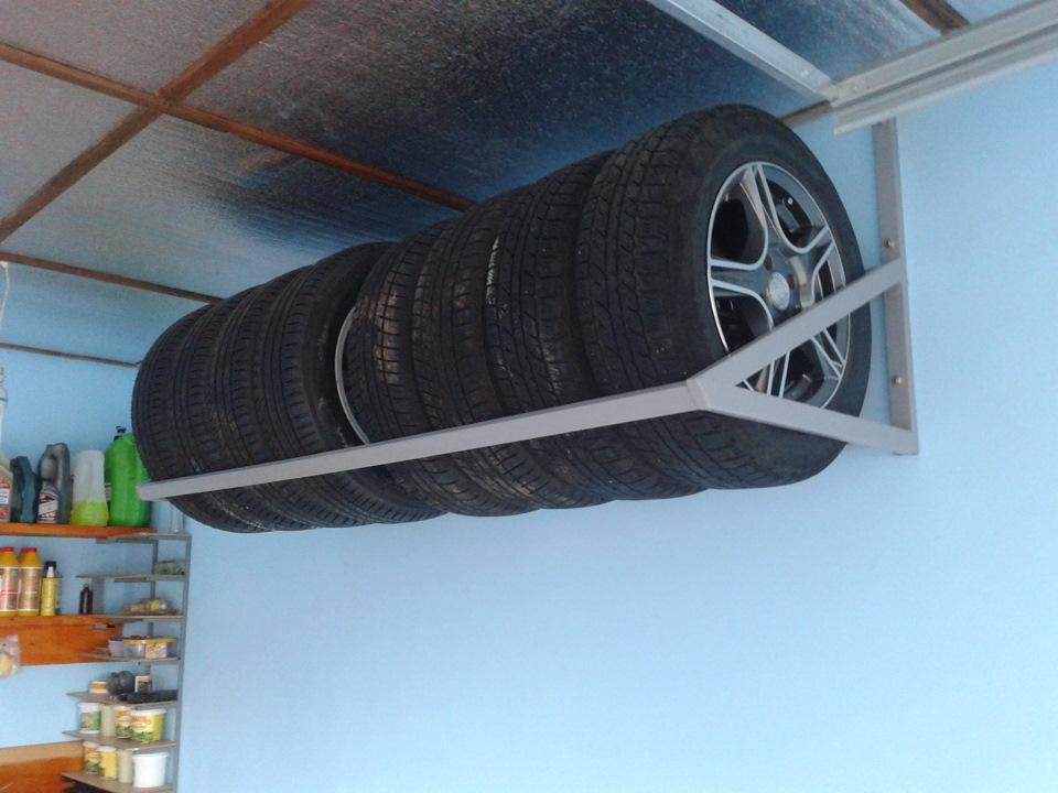 Подставка для колес автомобиля своими руками фото