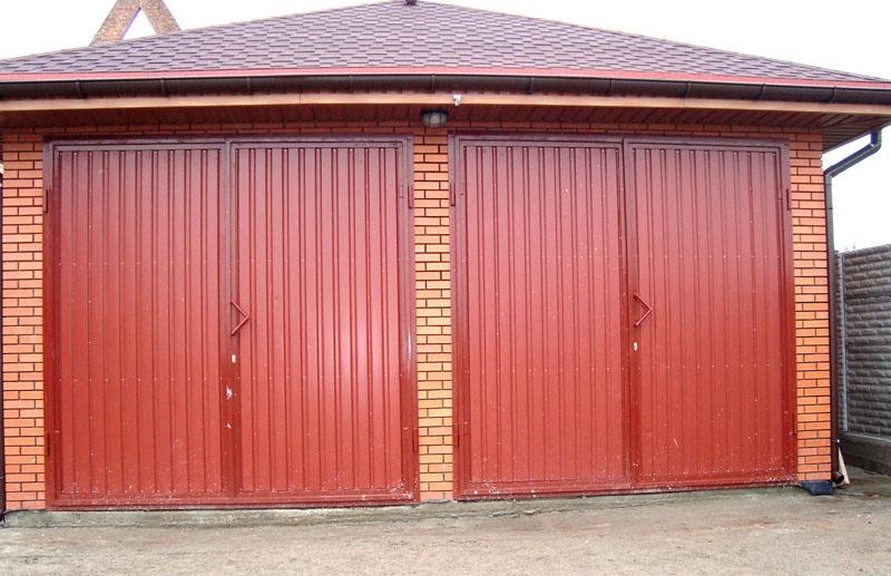 ворота для гаража из металла
