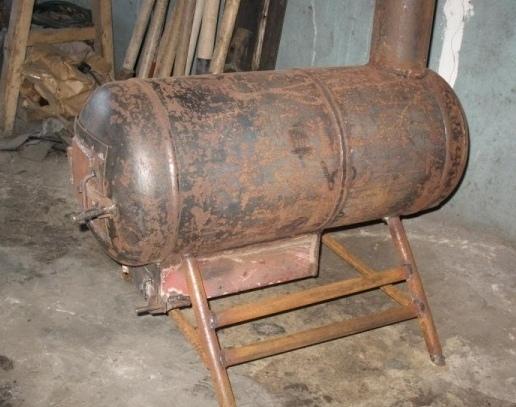Печка для гаража своими руками из газового баллона