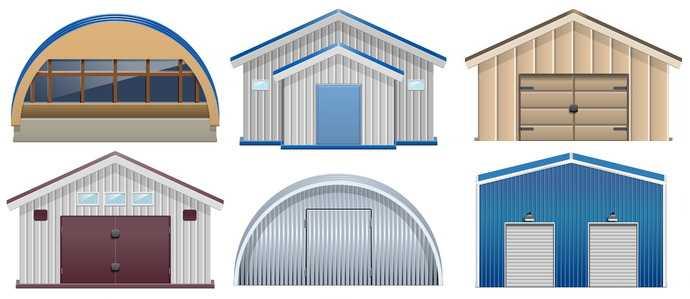 Металлический разборный гараж железный и железобетонный гараж технология сборки из металлоконструкций и ЖБИ