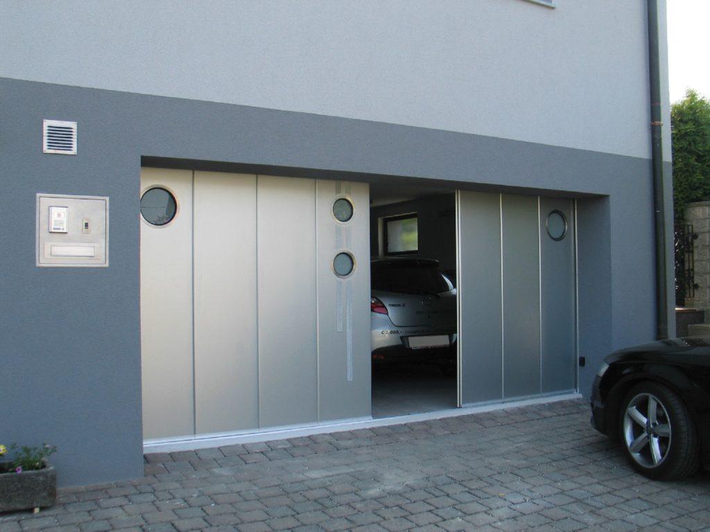 откатные ворота в гараже