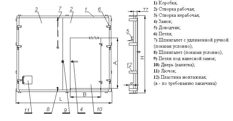 схема калитки для гаража