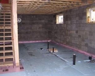 пол в подвале гаража