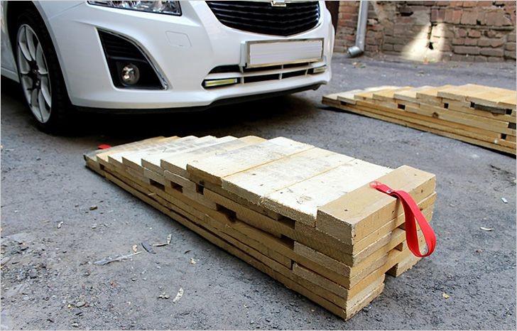 Как построить эстакаду для авто из дерева