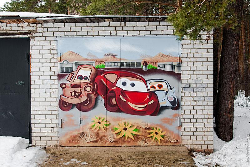 Как нарисовать на воротах гаража своими руками