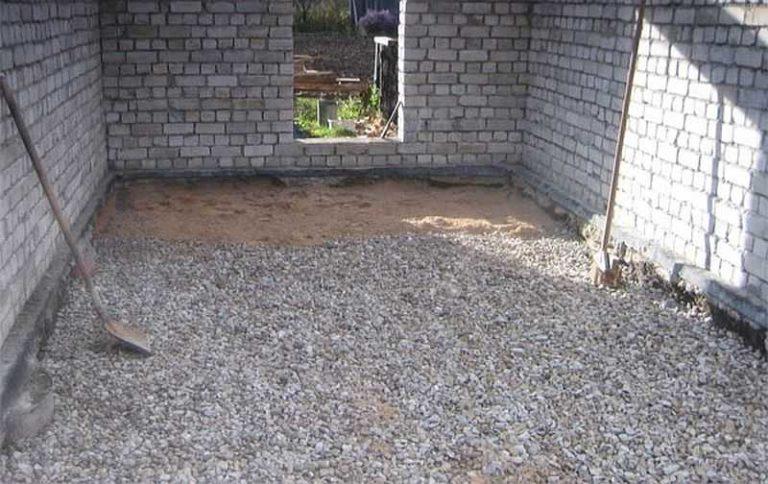 толщина бетонного пола в гараже