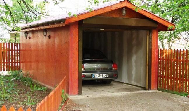 гараж на дачном участке