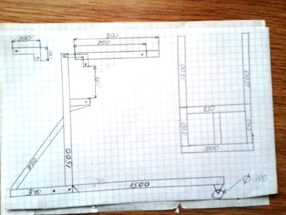схема изготовления гаражного крана
