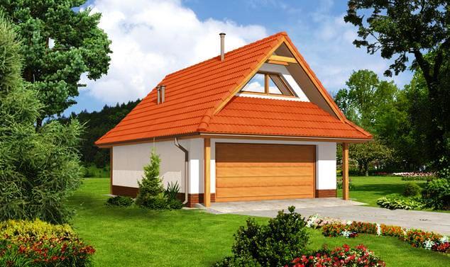 мансардная крыша гаража