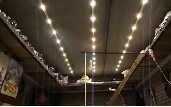освещение в мастерской гаража