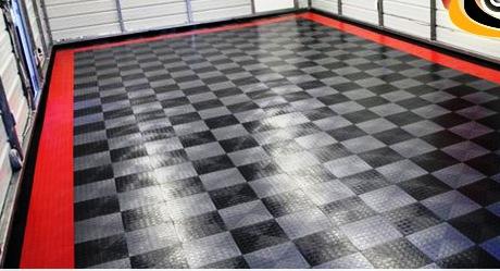 Резиновая плитка в гараж