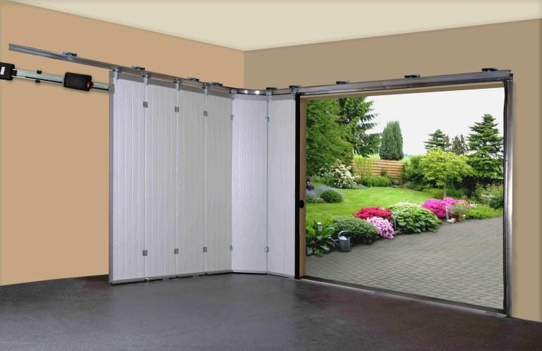 Раздвижные двери гаража своими руками 58