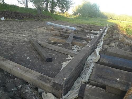 Баня из шпал своими руками - как построить