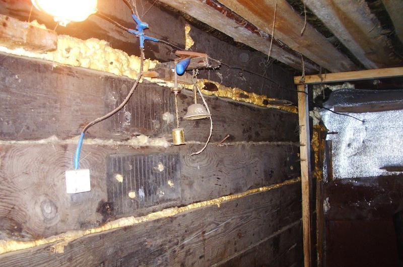 электрика в деревянном гараже