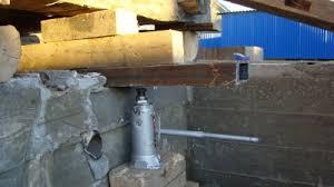 как поднять крышу в гараже бетонную
