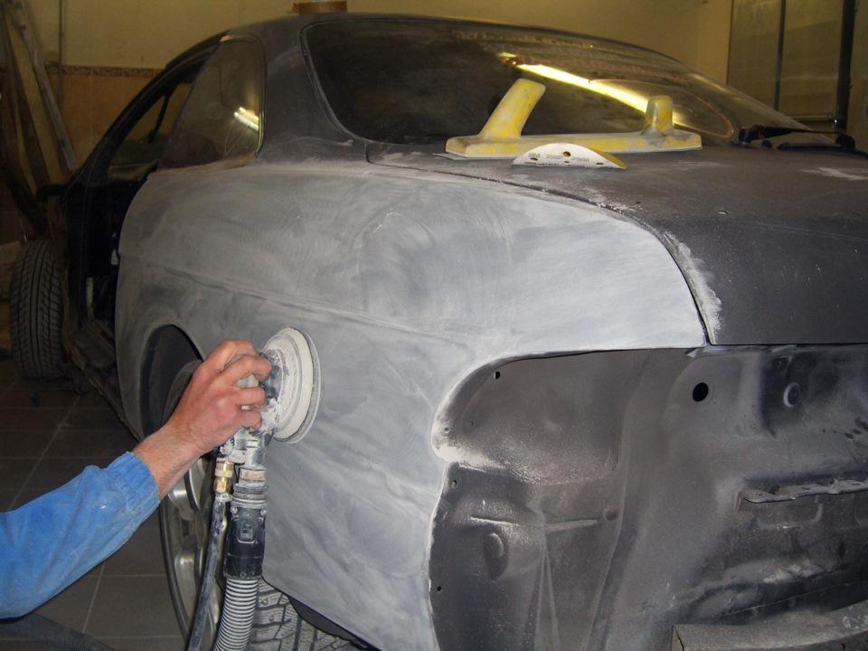 Шпаклевка покраска авто своими руками в гараже 89