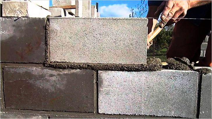 толщина стен гаража из керамзитобетонных блоков