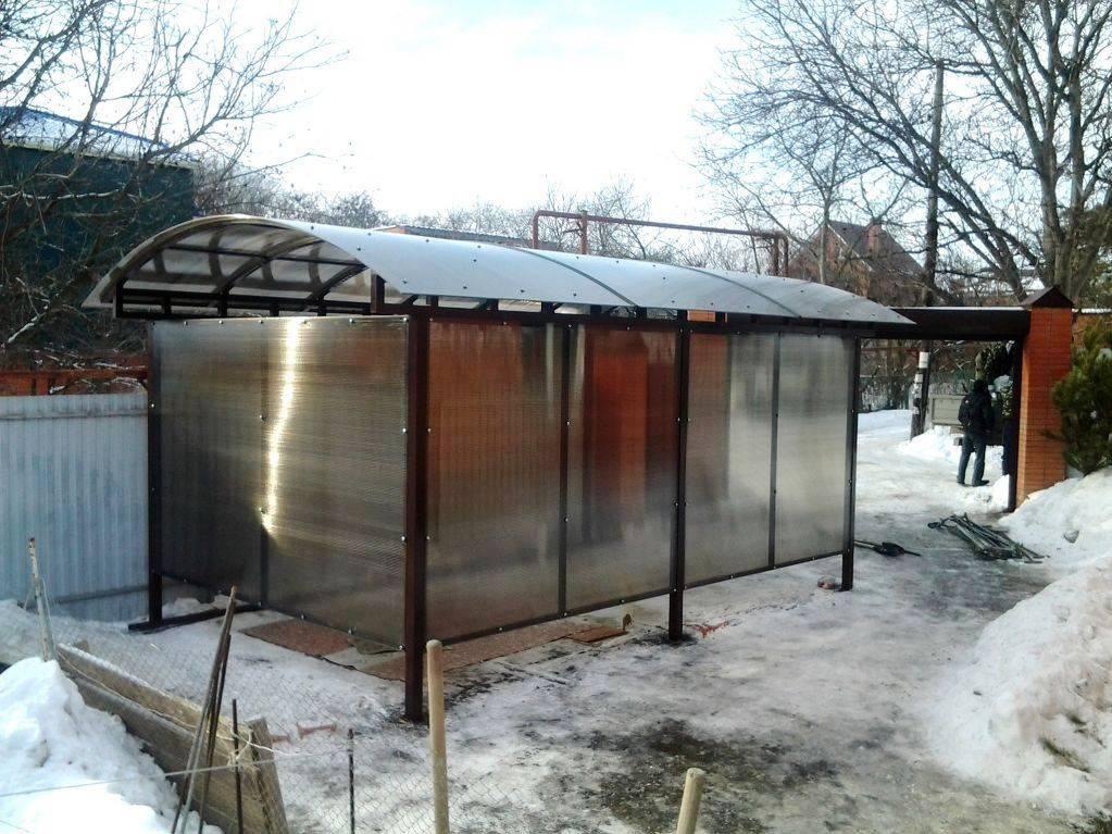 мобильный гараж из поликарбоната