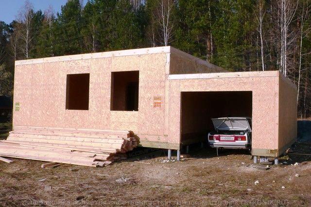 стоимость гаража из сип панелей